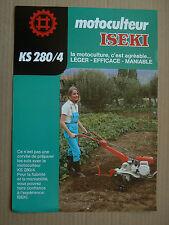 Prospectus  Motoculteur  ISEKI  KS 280 /4 brochure catalogue tractor traktor