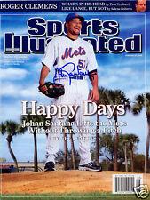 Johan Santana NY Mets SIGNED Sports Illustrated COA!