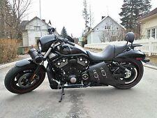 Harley V ROD NIGHTROD LEFT Side BLACK SOLO BAG Saddlebag - VRL01 BAD&G CustomS