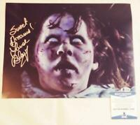LINDA BLAIR REGAN SIGNED 11X14 PHOTO THE EXORCIST BECKETT COA 489