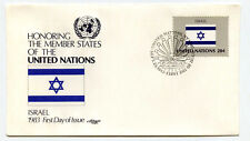 United Nations #402 Flag Series, Israel, Artmaster, Fdc