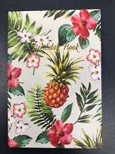 Birthday Book Pink Hibiscus Special Dates 130mm X 90mm Cumberland Gold Edging