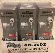 Case Georgia Bull Dogs EARBUDS Go-Budz College Team Stereo Headphones 12 PACK