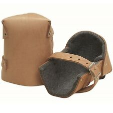 """Kraft Tool Leather Deluxe Knee Pads has 1/2"""" Thick Felt 14283"""