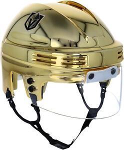 Vegas Golden Knights Unsigned Sportstar Gold Chrome Mini Helmet