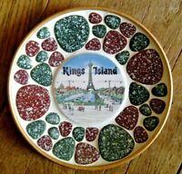 💛💚  KINGS ISLAND Souvenir Decorative Plate & Badge Button Lot  NICE 💛💚