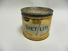 Vintage Antique Diet Lite Weight Loss Powder Advertising Tin Container (A4)
