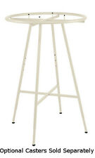 "Retails Boutique Ivory Round Clothing Display Rack 6""Dia. Hangrail"