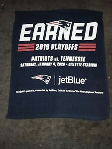 New England Patriots vs Tennessee Titans January 4, 2020 Playoff Rally Towel