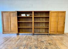 More details for large school cupboard english oak and pitch pine early 20th century linen pantry
