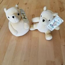 """Classic Gund Winnie the Pooh Plush Bear With Rattle LOT 5"""" collectible Disney"""