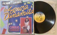 La Sonora Dinamita - Picante Y Caliente LP 1989 Fuentes Colombia Cumbia VG+