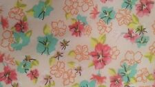 Hi Multi Chiffon with Floral Printed & Pink/Green/Blush,57/59&#0 34;width, by the yard