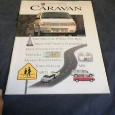 1995 Dodge Caravan Mini Vans Color Brochure Catalog Prospekt