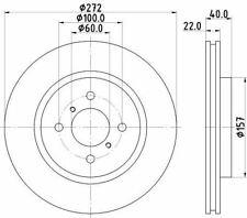 MINTEX MDC2526 BRAKE DISC Front