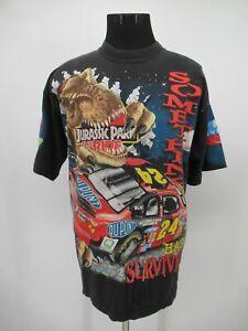 P3420 VTG Chase Jurassic Park Ride Racer Jeff Gordon NASCAR Racer T-Shirt XL