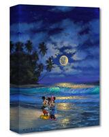 Disney Fine Art ROMANCE UNDER THE MOONLIGHT Walfrido Garcia Treasures on Canvas