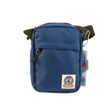 Queen MINI Shoulder BAG Office INVICTA tinta unita BLU scomparto tasca zip TRACO