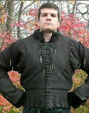 Black Color Medieval Gambeson Reenactment Roman Style Fashion In European Armor