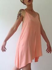 H&M Peach Pink Short Strappy Summer Festival Beach Holiday Dress Size 8 (34)