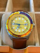 Mens Invicta Automatic Professional Yellow And Blue Bezel 4109 No Reserve!