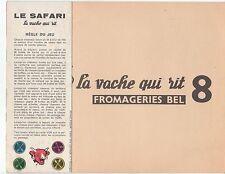 JEU  LA VACHE QUI RIT  N°8  LE SAFARI BEL  BENJAMIN RABIER J.R MONTFORT PARIS