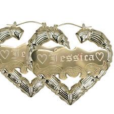Heart Bamboo Earring | Personalized Heart Earring | Bamboo Earring |