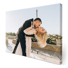 More details for personalised photo canvas print your picture framed wall hanging a4 canvas art