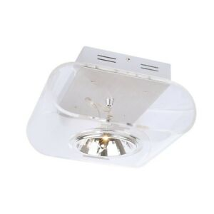 RETROSIX wall and ceiling light, single-headed, QR-LP111, clear acrylic glass,