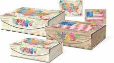 Punch Studio Large Nesting Flip Top Boxes - America The Beautiful 42703N