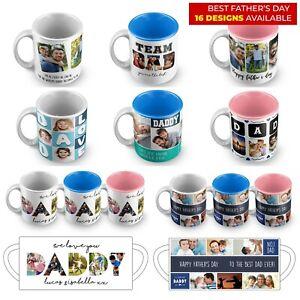Personalised Mug Fathers Day Mug Photo Gift Best Dad Ever Grandpa Daddy Papa