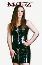 Misfitz black pvc zip and padlock dress sizes 8-32 or made to measure punk goth
