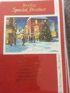 Lovely Traditional Design Brother Christmas Card. Lovely Words.