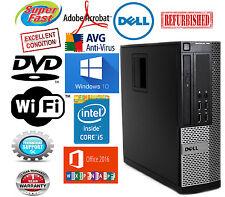 Dell Desktop Windows 10 PRO Computer PC 500GB Intel Core i5 Quad 16GB RAM WIFI