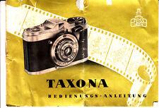 ZEISS IKON Kamera Bedienungsanleitung TAXONA  (Deutsch) Nr.B.43