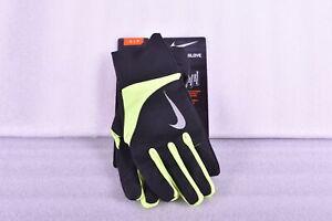 Men's Nike Stormfit 2.0 Running Gloves, Black / Neon Yellow, Small