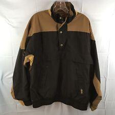Vintage Tourney Gore-Tex Men's Black Brown Pullover Jacket Sz M 1/2 Zip Golf