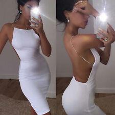 femme sexy extensible transparent robe fin Mini KTV Ultra Fin dos-nu blanche M
