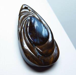 Australian Boulder Opal 70.19ct Drilled Pendant