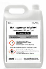 Hexeal Chemicals IPA 5L Lab/Pharmaceutical Grade Isopropy Alcohol/Isopropanol