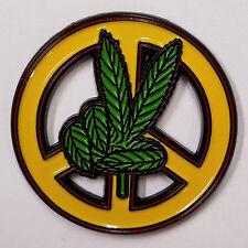 PEACE SIGN - WEED HAND - HAT PIN - BRAND NEW - MARIJUANA HP121