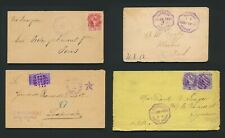 More details for 1892-1898 guatemala covers, rare group, chiquimela, panzos, puerto barrios