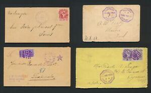 1892-1898 GUATEMALA COVERS, RARE GROUP, CHIQUIMELA, PANZOS, PUERTO BARRIOS