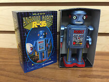 "Masudaya ANTIQUE ROBOT R-35 Wind Up Motor 4.5"" tall ** New in box **"