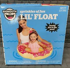 Bigmouth Inc Sprinkles of Fun Lil'Float Kids Pink Pool Float Floaties Ages 1-3