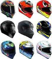 AGV K3 SV Helmet - Full Face Motorcyle Street Bike Riding DOT ECE Sun Visor