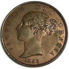 More details for 1853 half penny a.unc collectable grade ref:e96