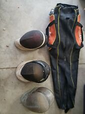 Absolute Fencing Gear High Quality Heavy Duty Black Orange Bag with 3 Head Gear