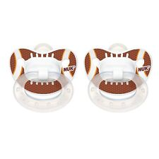 Nuk Orthodontic Silicone Football Pacifiers Size 6-18 Months