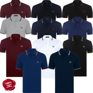 Genuine M3600 Fred Perry Twin Tipped Polo Shirts RRP £65.00
